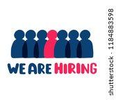 we are hiring. vector hand...   Shutterstock .eps vector #1184883598