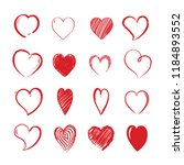 love hearts shapes. decorative... | Shutterstock .eps vector #1184893552