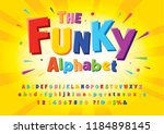 colorful stylized font and... | Shutterstock .eps vector #1184898145