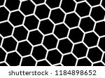 white honeycomb on a black... | Shutterstock . vector #1184898652