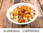 quinoa  pumpkin and pomegranate | Shutterstock . vector #1184900362
