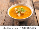 bowl of soup | Shutterstock . vector #1184900425