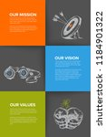 company profile template  ... | Shutterstock .eps vector #1184901322