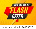 flash sale banner template | Shutterstock .eps vector #1184903098
