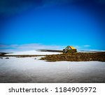 Stock photo snow mountains landscape in iceland 1184905972
