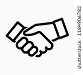 outline shaking hand pixel... | Shutterstock .eps vector #1184906782