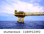 offshore oil and gas rig...   Shutterstock . vector #1184912392