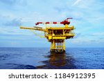 offshore oil and gas rig...   Shutterstock . vector #1184912395