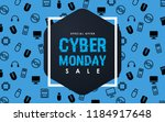 cyber monday sale design... | Shutterstock .eps vector #1184917648