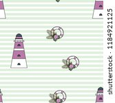 marine seamless pattern with a... | Shutterstock .eps vector #1184921125