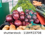 different fresh and colorful... | Shutterstock . vector #1184923708