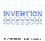 invention text hand drawn with... | Shutterstock .eps vector #1184926018