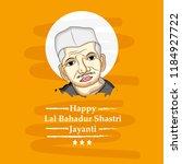 illustration of lal bahadur... | Shutterstock .eps vector #1184927722