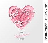 paper art cartoon abstract...   Shutterstock .eps vector #1184927785