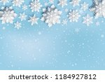 abstract christmas background...   Shutterstock .eps vector #1184927812
