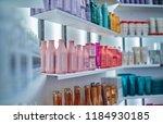 modern beauty salon interior.... | Shutterstock . vector #1184930185