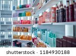 modern beauty salon interior.... | Shutterstock . vector #1184930188