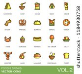 food and drinks vector icons.... | Shutterstock .eps vector #1184930758