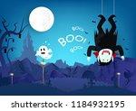 halloween  boo  message ... | Shutterstock .eps vector #1184932195