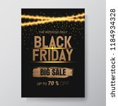 black friday sale abstract...   Shutterstock .eps vector #1184934328