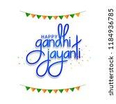 illustration of gandhi jayanti... | Shutterstock .eps vector #1184936785