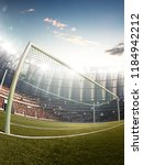 soccer stadium  photorealistic... | Shutterstock . vector #1184942212