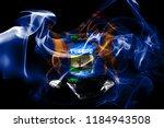 michigan state smoke flag ...   Shutterstock . vector #1184943508