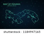 map panama. wire frame 3d mesh... | Shutterstock .eps vector #1184947165