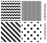tile pattern set with black and ... | Shutterstock . vector #1184948182