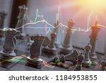 business battle over stocks and ... | Shutterstock . vector #1184953855