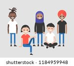 diversity. a group of young... | Shutterstock .eps vector #1184959948