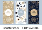 a set of greeting card with... | Shutterstock .eps vector #1184960308