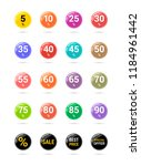 sale discount circle icons.... | Shutterstock .eps vector #1184961442