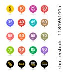 sale discount icons. special... | Shutterstock .eps vector #1184961445