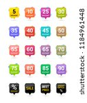 sale discount square icons.... | Shutterstock .eps vector #1184961448