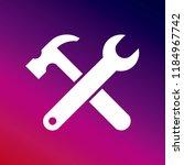 tools icon vector illustrator... | Shutterstock .eps vector #1184967742
