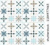 seamless ceramic tile. gorgeous ... | Shutterstock .eps vector #1184977465
