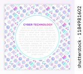 cyber technology concept with... | Shutterstock .eps vector #1184981602