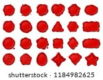 vector red vintage isolated wax ... | Shutterstock .eps vector #1184982625