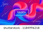 abstract modern background with ... | Shutterstock .eps vector #1184996218