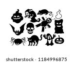 vector cartoon black and white... | Shutterstock .eps vector #1184996875