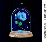 vector beauty and beast blue...   Shutterstock .eps vector #1185004495