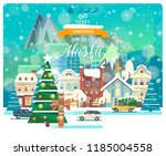 merry christmas and happy new... | Shutterstock .eps vector #1185004558