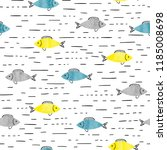 seamless sea pattern with... | Shutterstock .eps vector #1185008698
