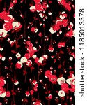 seamless pattern with flowers ...   Shutterstock . vector #1185013378