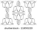abstract flower pattern | Shutterstock . vector #11850220