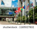brussels  belgium   may 20 ... | Shutterstock . vector #1185027832