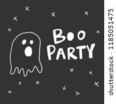 boo party. sticker for social... | Shutterstock .eps vector #1185051475
