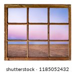clear sky after sunset over... | Shutterstock . vector #1185052432