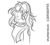 beautiful girl elf in modern... | Shutterstock .eps vector #1185060955